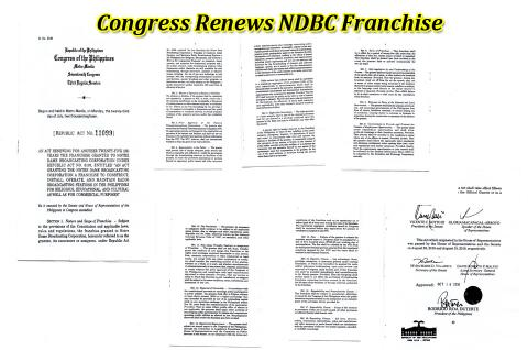 Congress Renews NDBC Franchise